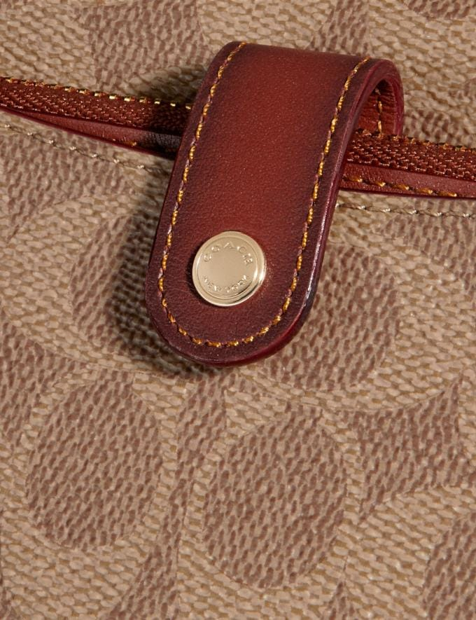 Coach Noa Pop-Up Messenger in Colorblock Signature Canvas Tan/Rust/Brass Women Accessories Alternate View 3