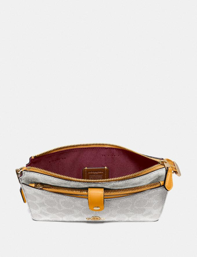 Coach Noa Pop-Up Messenger in Colorblock Signature Canvas Brass/Chalk Pollen Women Wallets & Wristlets Alternate View 1