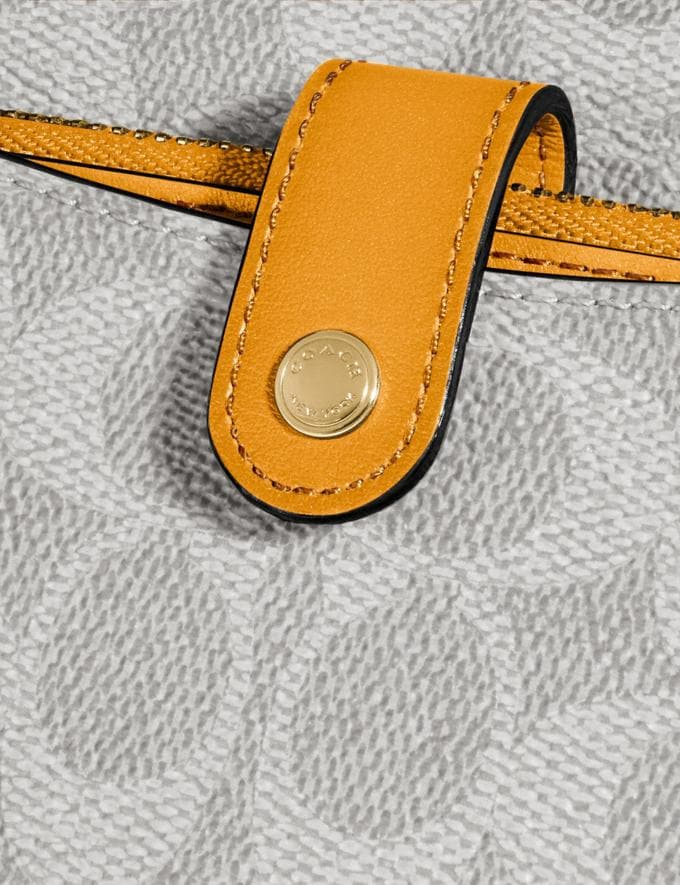 Coach Noa Pop-Up Messenger in Colorblock Signature Canvas Brass/Chalk Pollen Women Wallets & Wristlets Alternate View 3