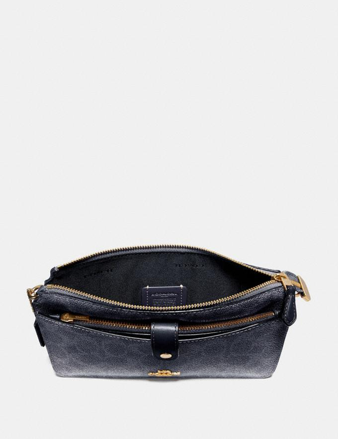 Coach Noa Pop-Up Messenger in Colorblock Signature Canvas Charcoal/Midnight Navy/Light Gold Women Handbags Crossbody Bags Alternate View 1