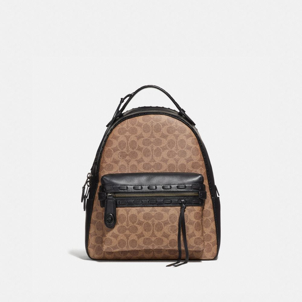 Coach Campus Backpack in Signature Canvas With Whipstitch