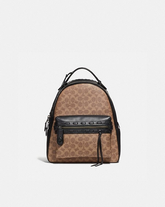 Coach Campus Backpack In Signature Canvas With Whipsch