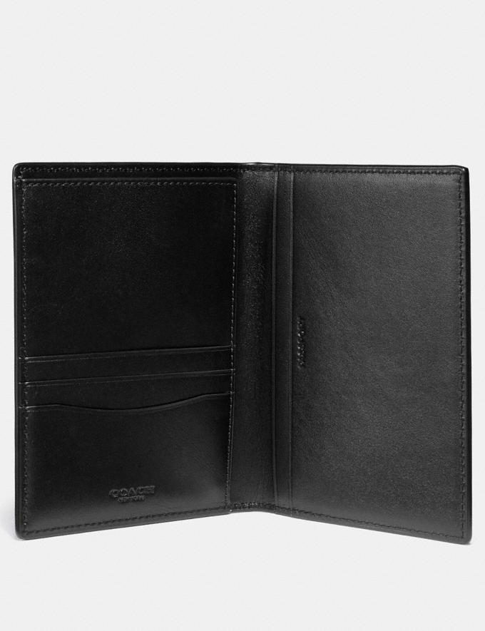 Coach Passport Case in Signature Canvas Charcoal New Men's New Arrivals Accessories Alternate View 1
