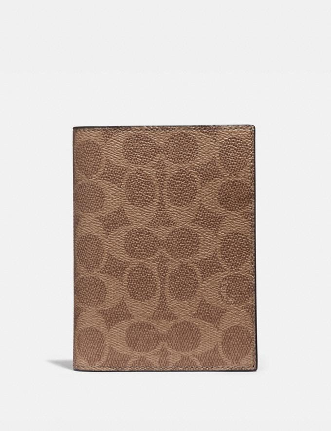 Coach Passport Case in Signature Canvas Khaki Cyber Monday Men's Cyber Monday Sale Accessories