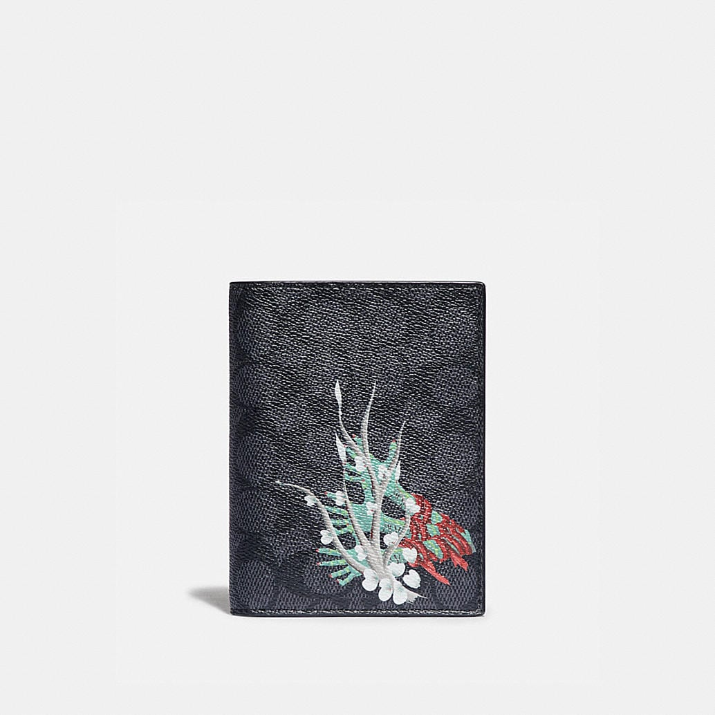 Passport Case In Signature Canvas By Gianni Lee by Coach