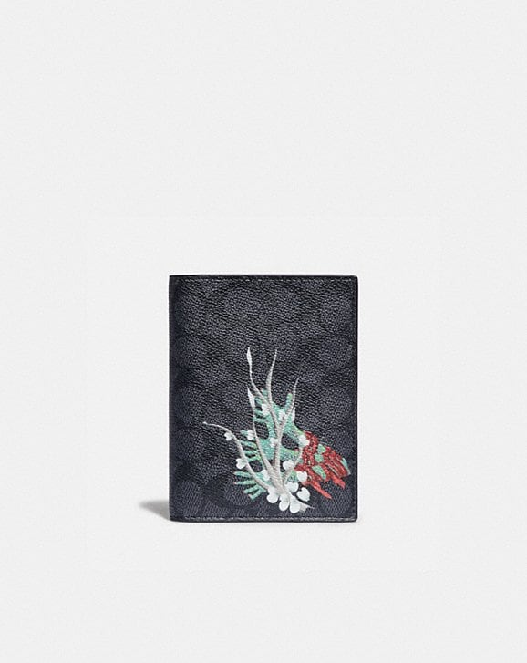 Coach PASSPORT CASE IN SIGNATURE CANVAS BY GIANNI LEE