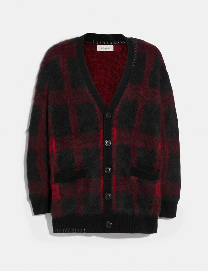 Coach Mohair Cardigan Black/Red