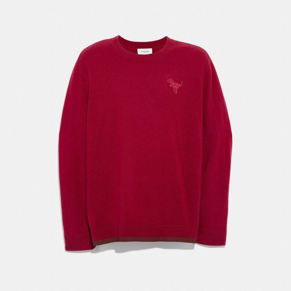 rexy patch crewneck sweater
