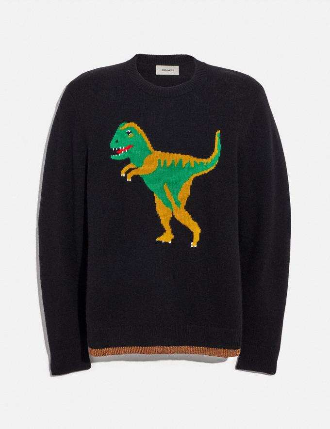 Coach Rexy Intarsia Sweater Black SALE 30% off Select Full-Price Styles Men's