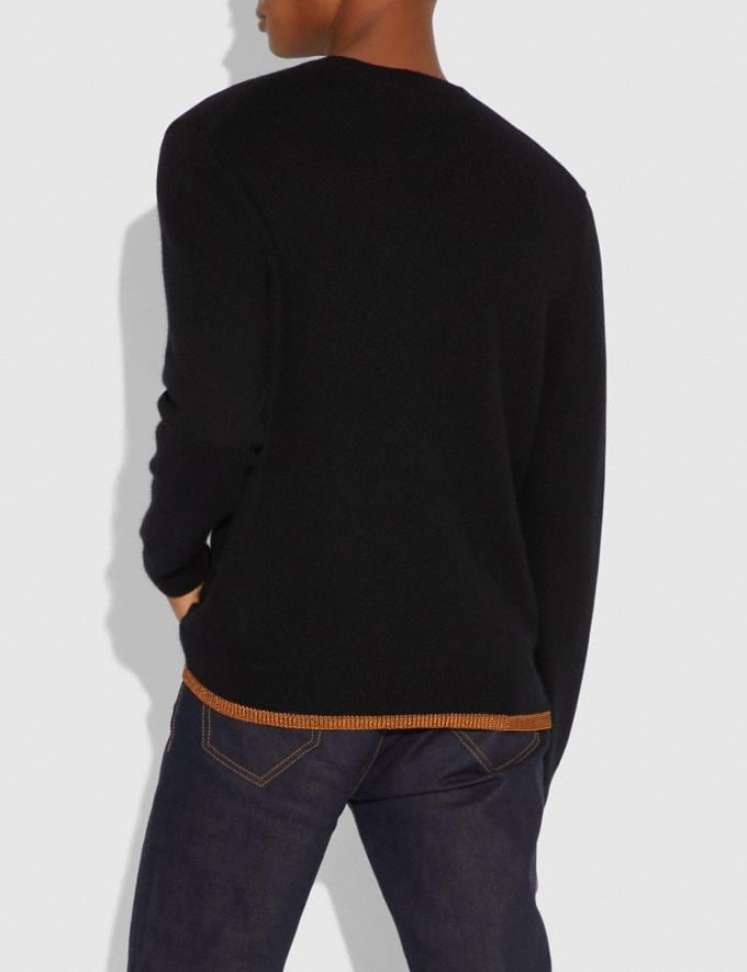 Coach Rexy Intarsia Sweater Black Men Ready-to-Wear Alternate View 2