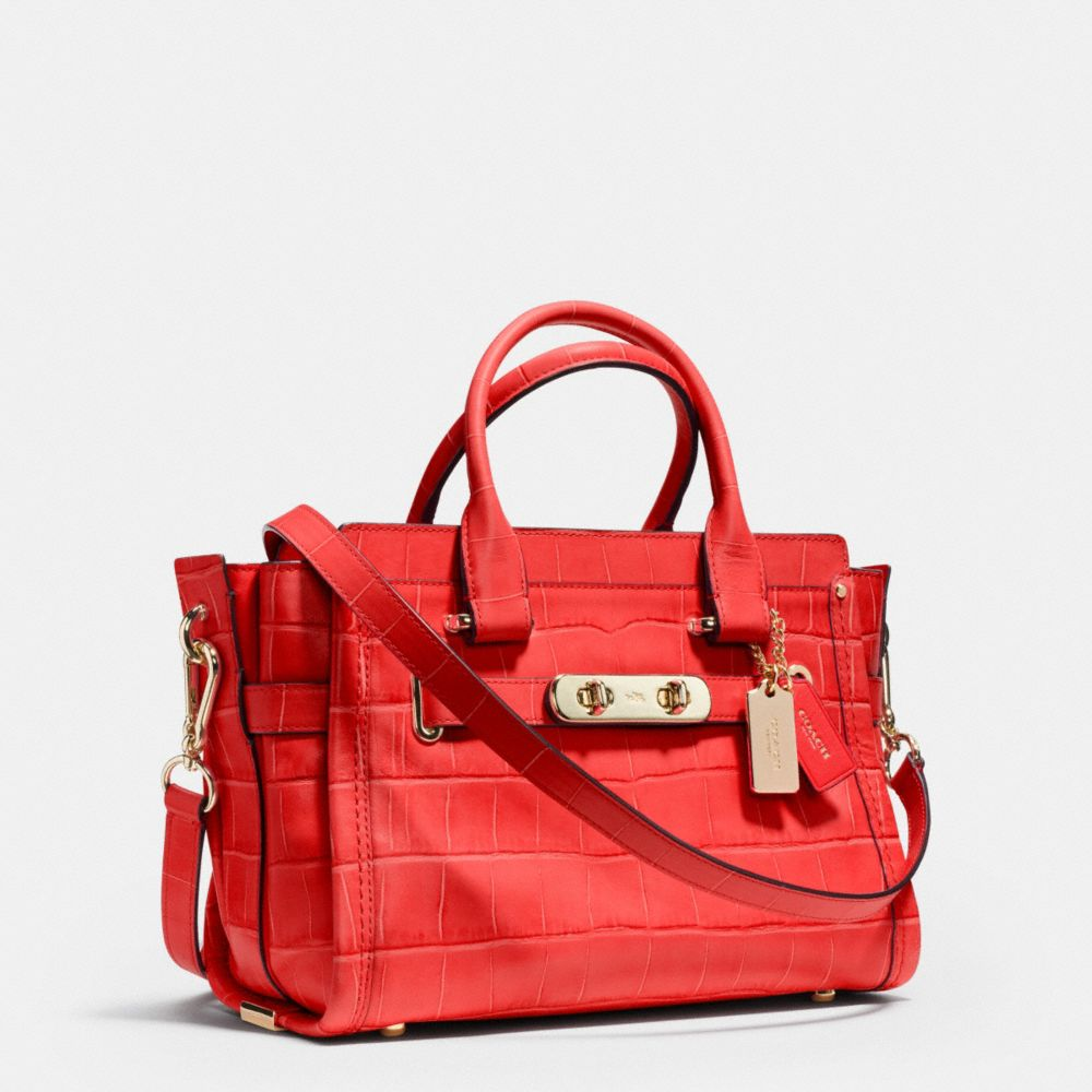COACH SWAGGER 27 IN CROC EMBOSSED LEATHER - Autres affichages A2