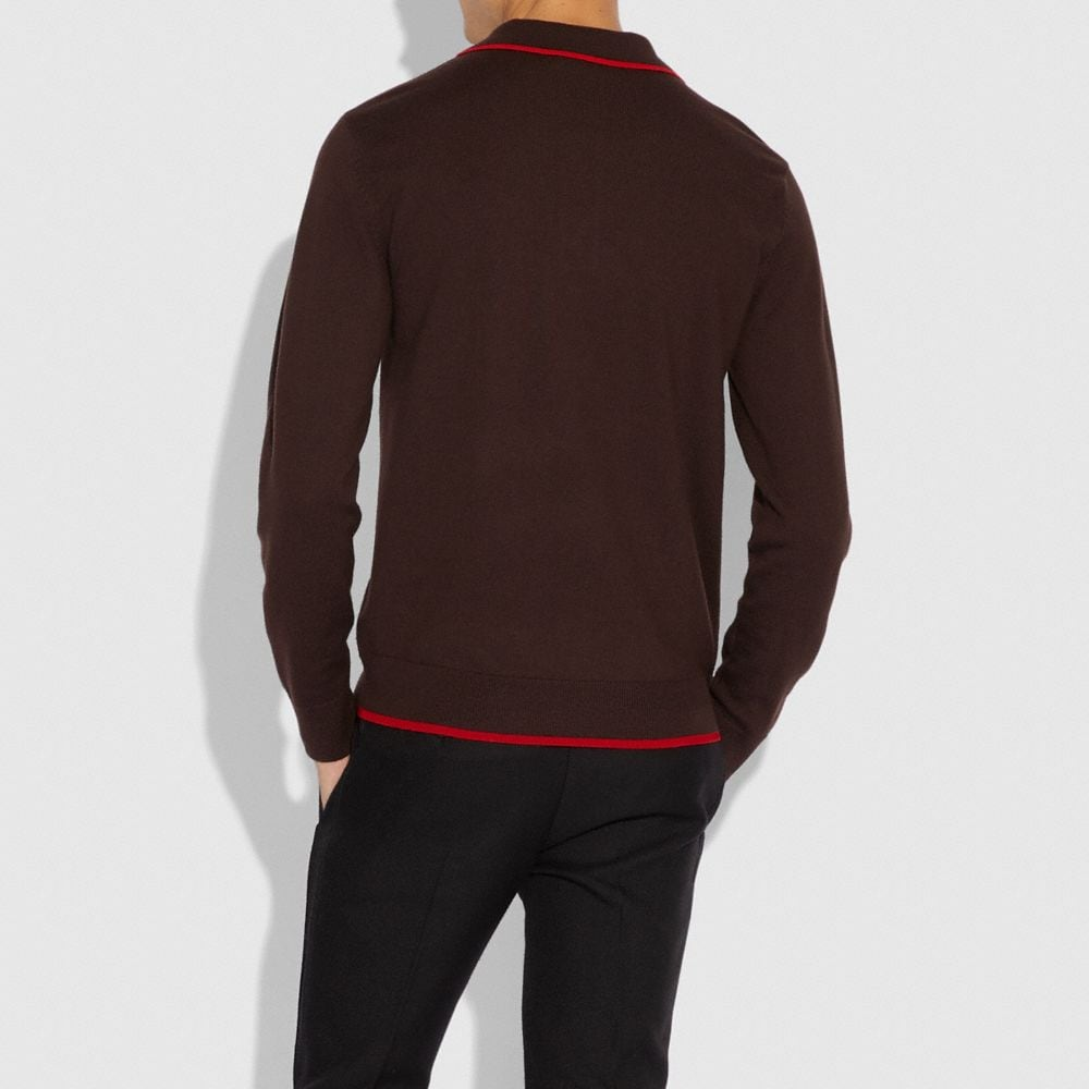 Coach Rodeo Polo Sweater Alternate View 2