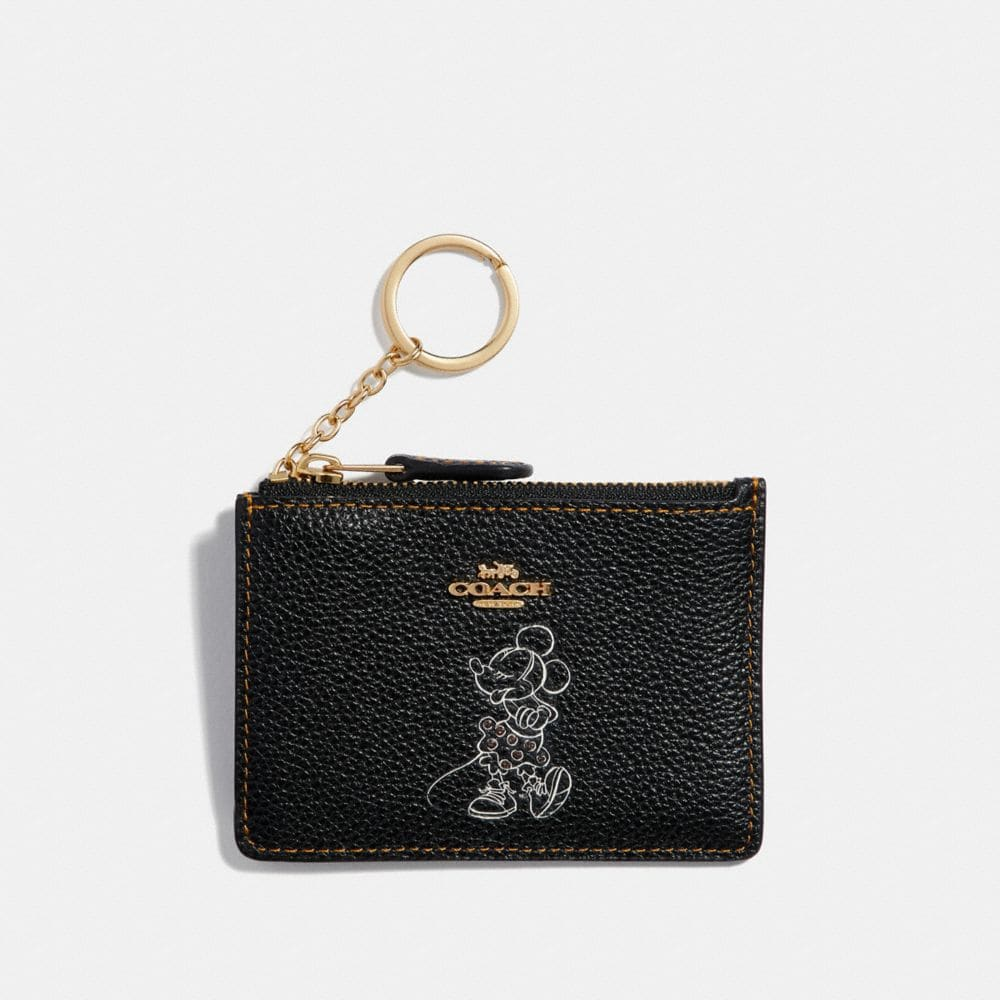 Coach Boxed Minnie Mouse Mini Skinny Id Case
