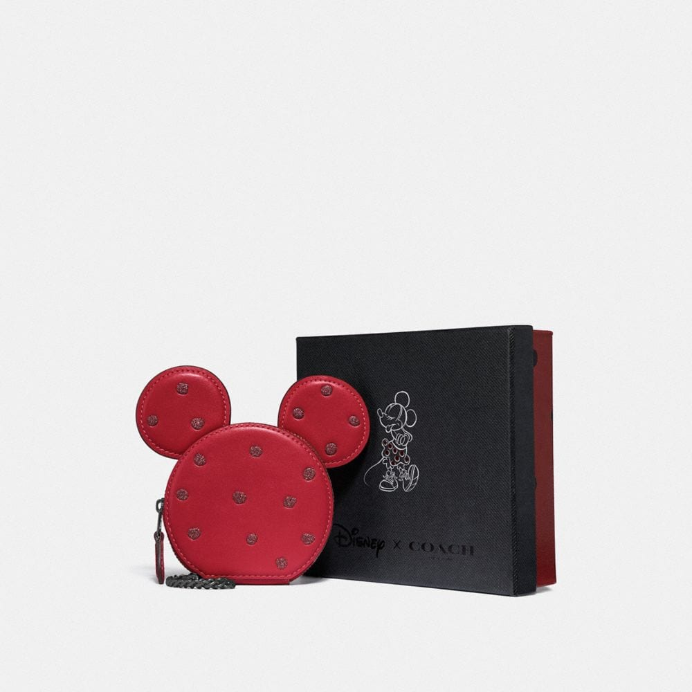 Coach Boxed Minnie Mouse Coin Case Alternate View 1