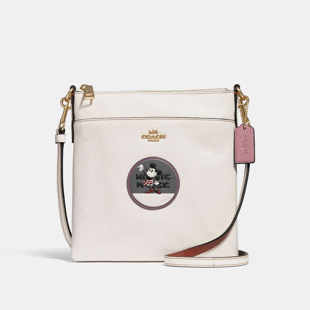 Coach Minnie Mouse Kitt Messenger Crossbody With Patches