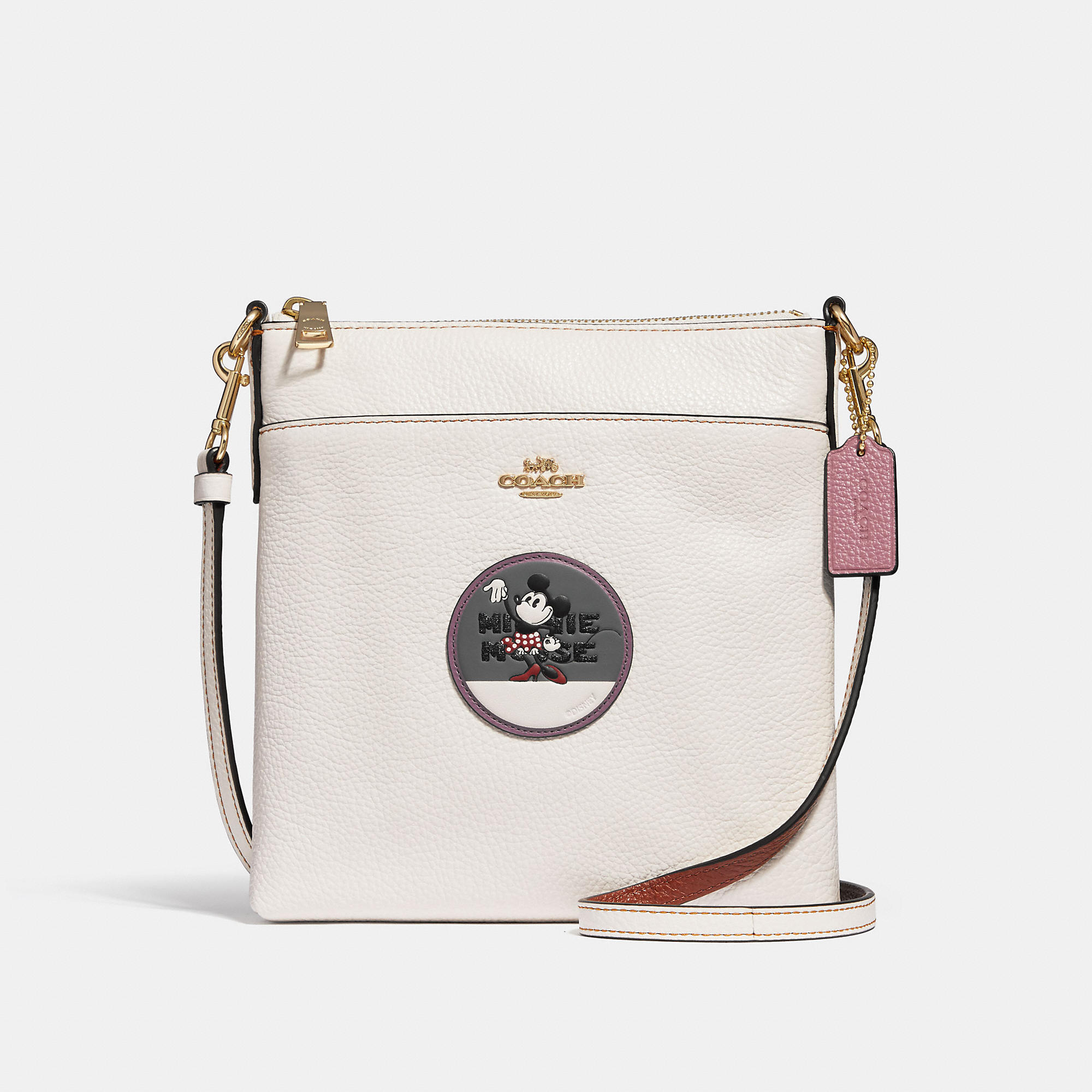 f17b01671974 Coach Minnie Mouse Kitt Messenger Crossbody With Patches - Women S In  Chalk Light Gold