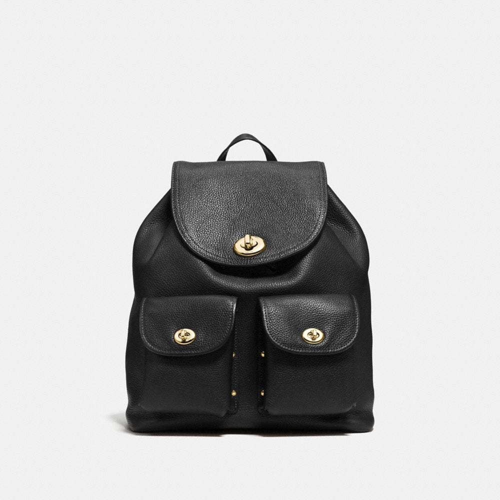 Coach Turnlock Rucksack in Polished Pebble Leather