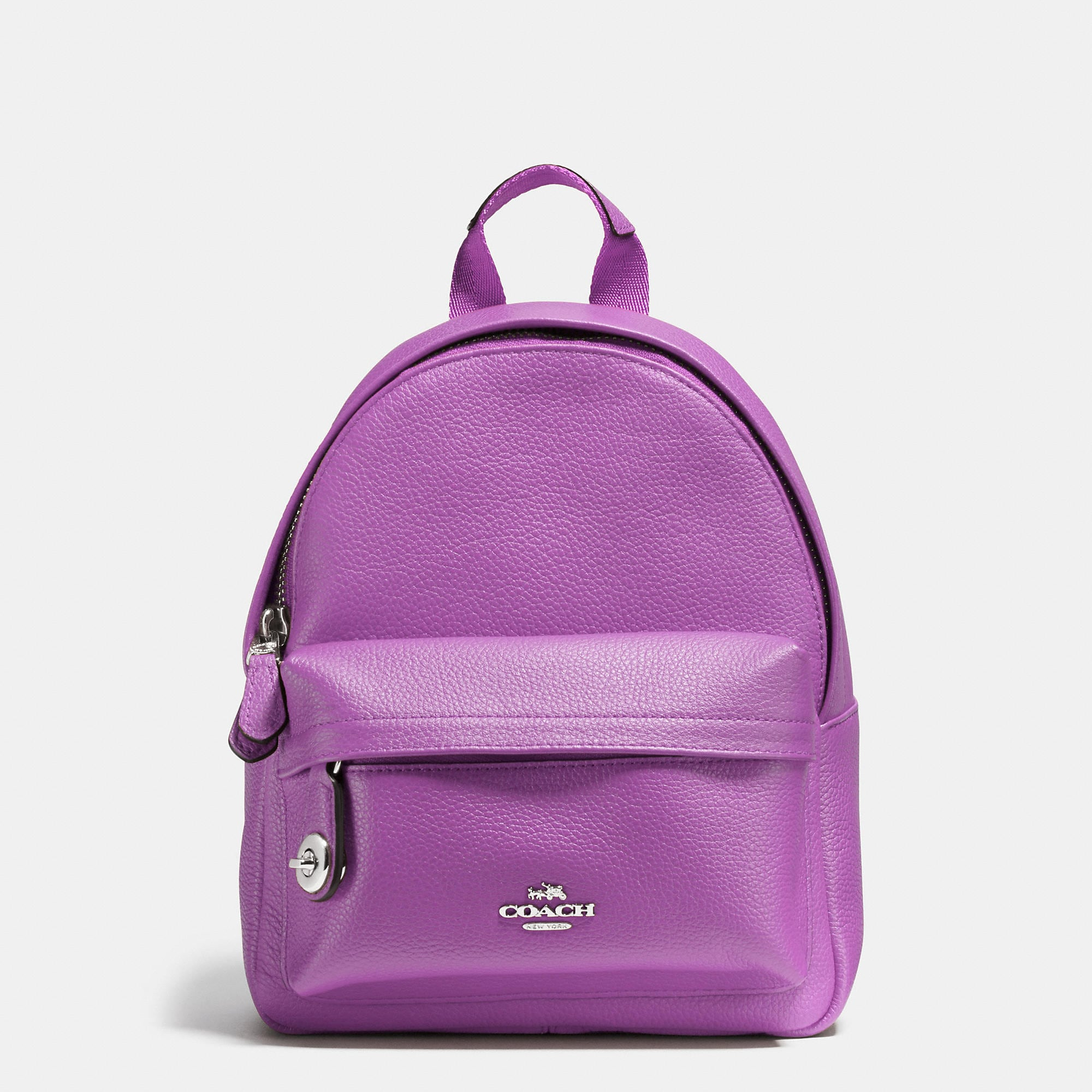 Coach Mini Campus Backpack In Pebble Leather
