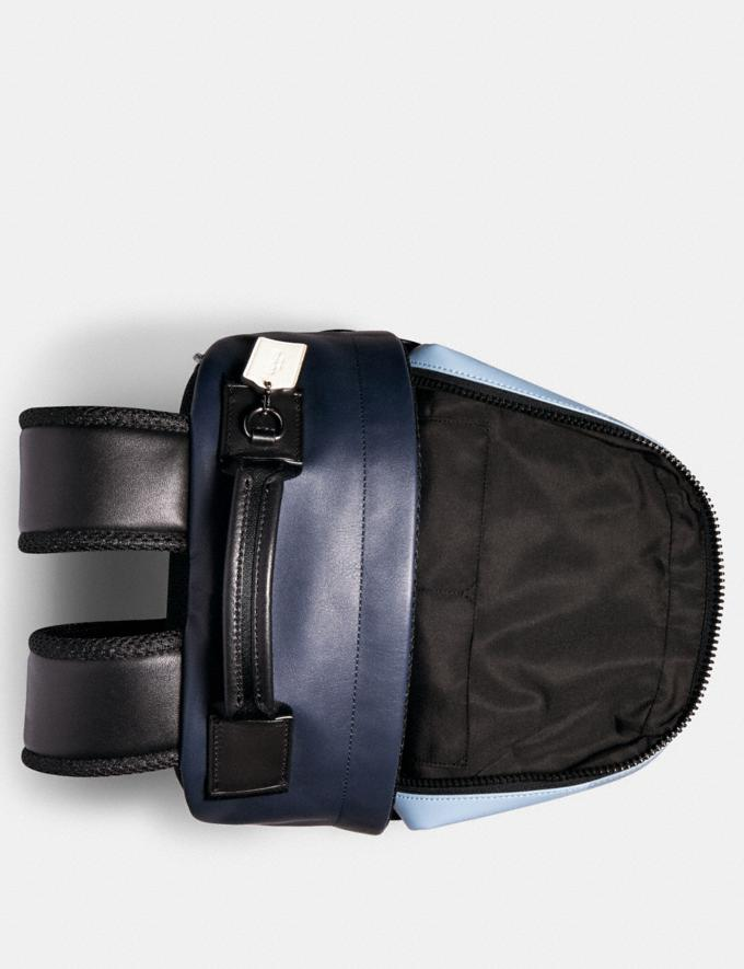 Coach Edge Backpack in Colorblock Signature Canvas With Coach Patch Qb/Pebble Blue Charcoal  Alternate View 1