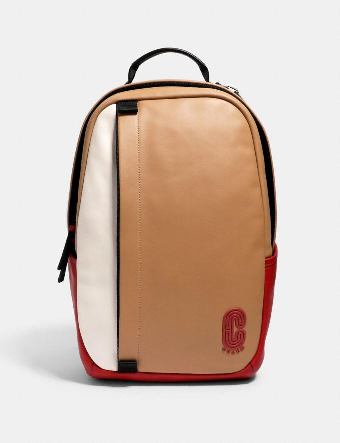 Coach Edge Backpack in Colorblock With Coach Patch Qb/Latte Multi