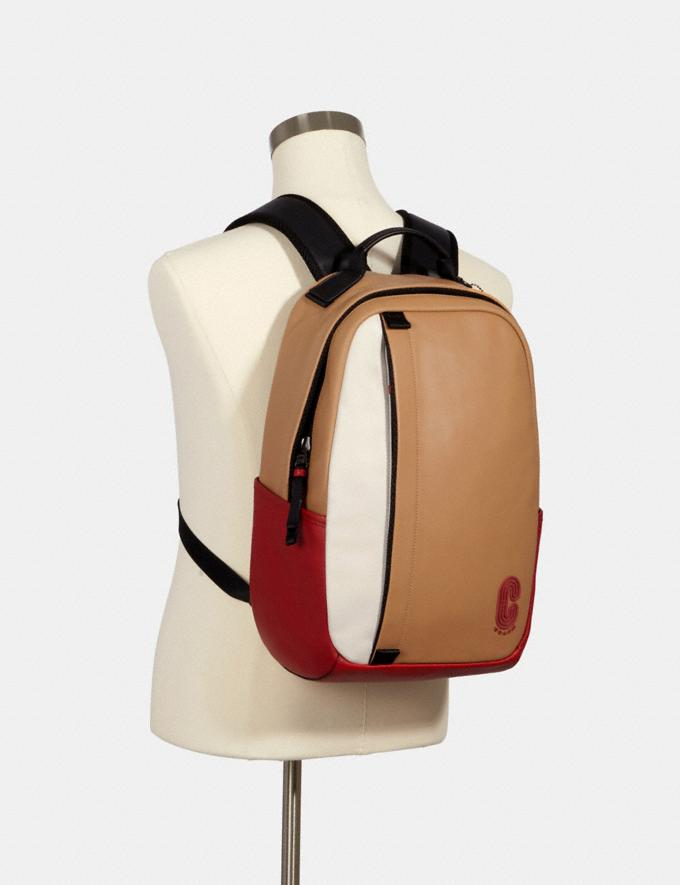 Coach Edge Backpack in Colorblock With Coach Patch Qb/Latte Multi  Alternate View 2