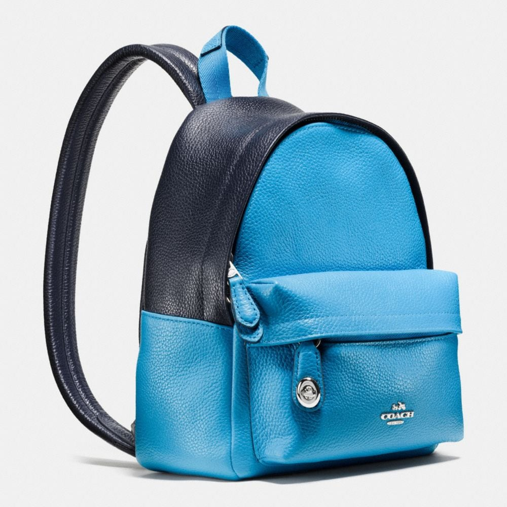 Mini Campus Backpack in Bicolor Leather - Alternate View A2