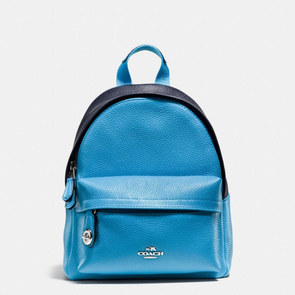 MINI CAMPUS BACKPACK IN BICOLOR LEATHER