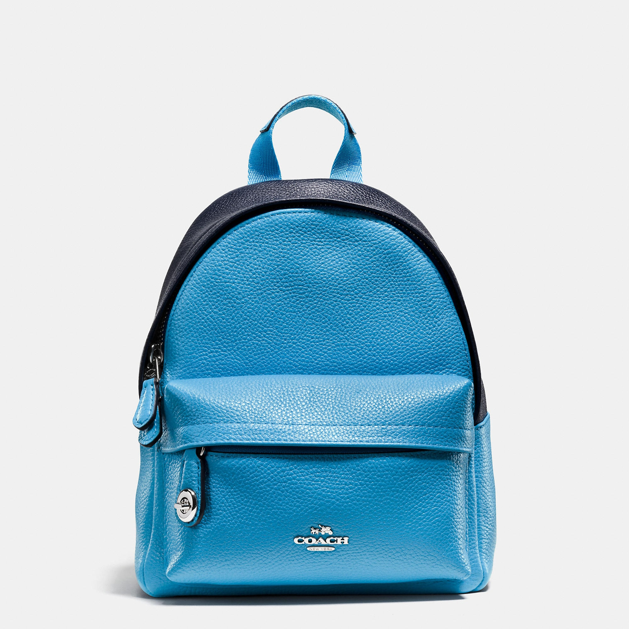 Coach Mini Campus Backpack In Bicolor Leather
