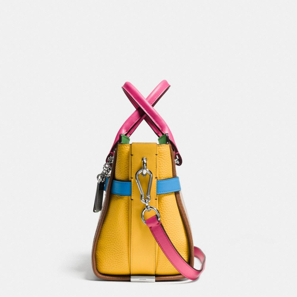 Coach Swagger 27 in Rainbow Colorblock Leather - Alternate View A1