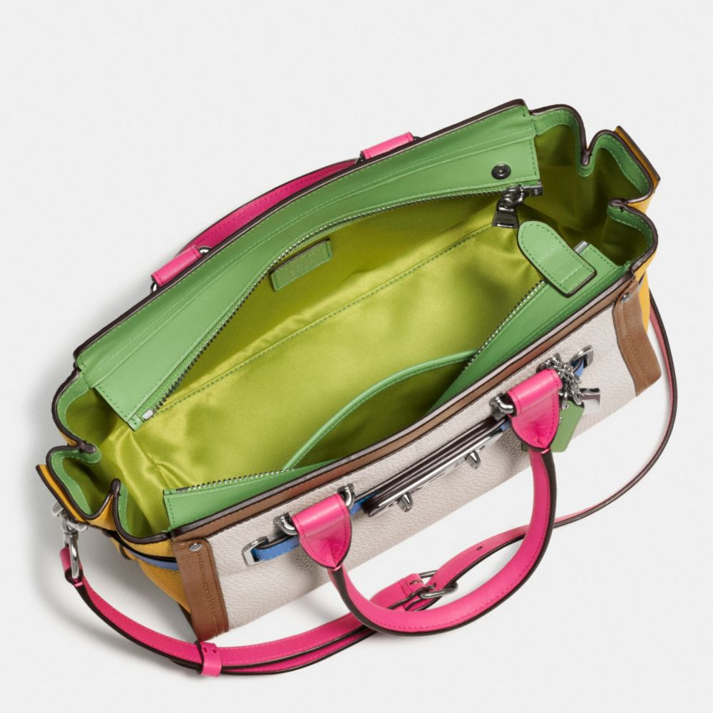 Coach Swagger 27 in Rainbow Colorblock Leather - Alternate View A3