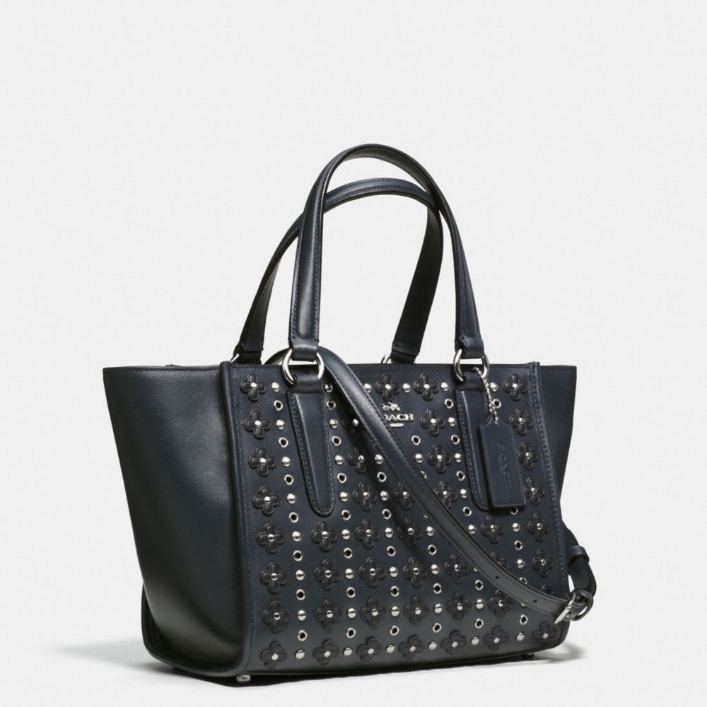 Mini Crosby Carryall in Floral Rivets Leather - Autres affichages A2