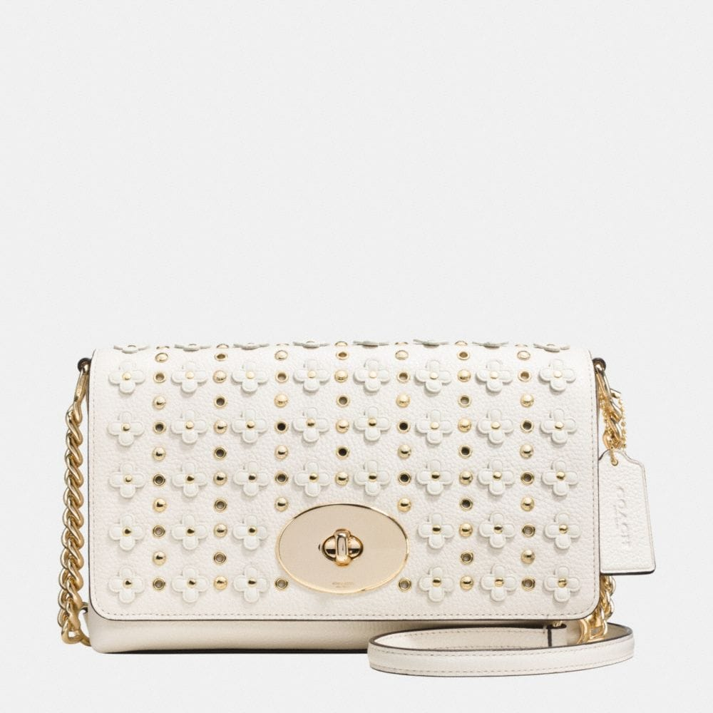 Crosstown Crossbody in Floral Rivets Leather