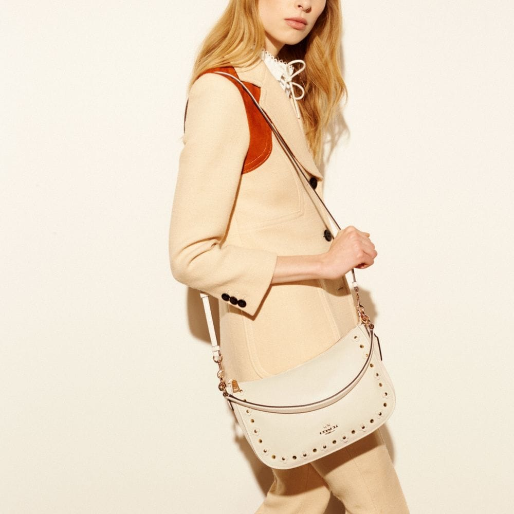 Chelsea Crossbody in Floral Rivets Leather - Alternate View A2