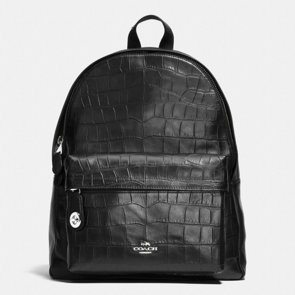 CAMPUS BACKPACK IN CROC EMBOSSED LEATHER