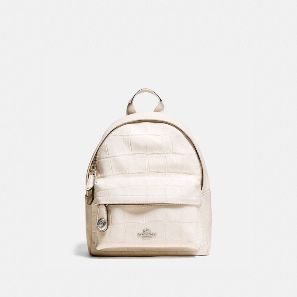 MINI CAMPUS BACKPACK IN CROC EMBOSSED LEATHER