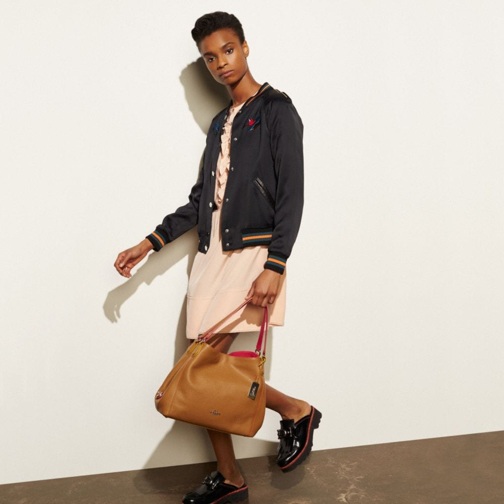 Edie Shoulder Bag 31 in Edgestain Leather - Alternate View A4