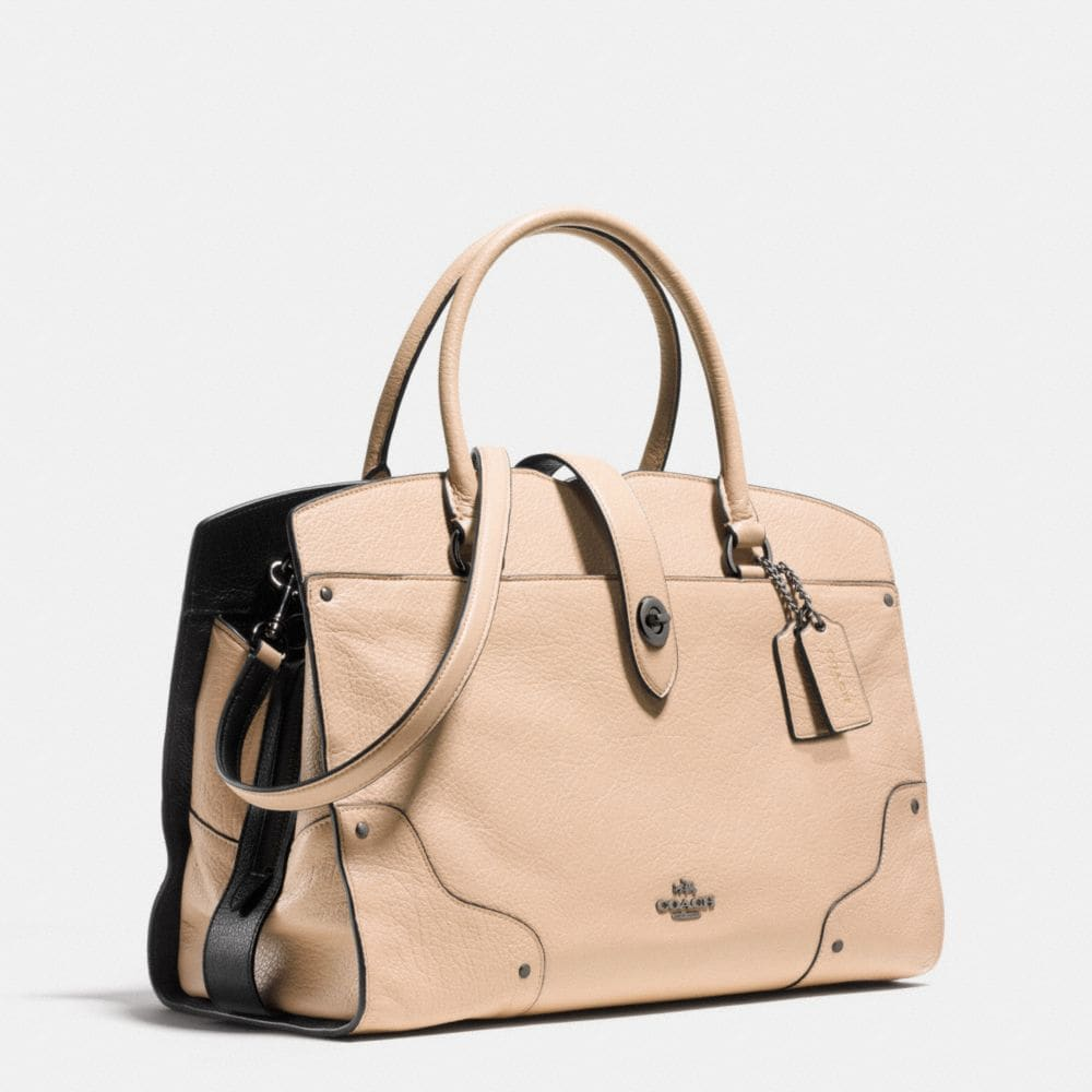 MERCER SATCHEL IN COLORBLOCK LEATHER - Alternate View A2