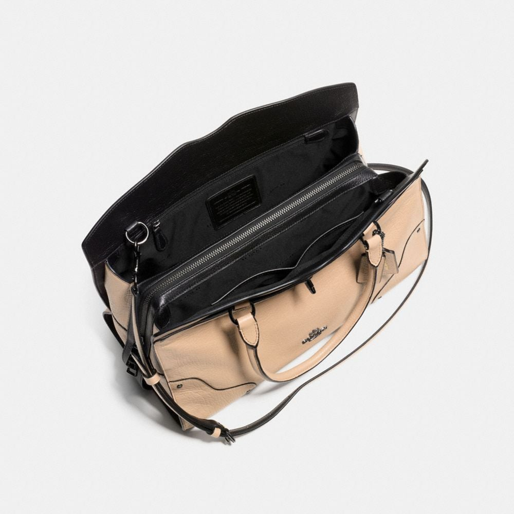 MERCER SATCHEL IN COLORBLOCK LEATHER - Alternate View A3