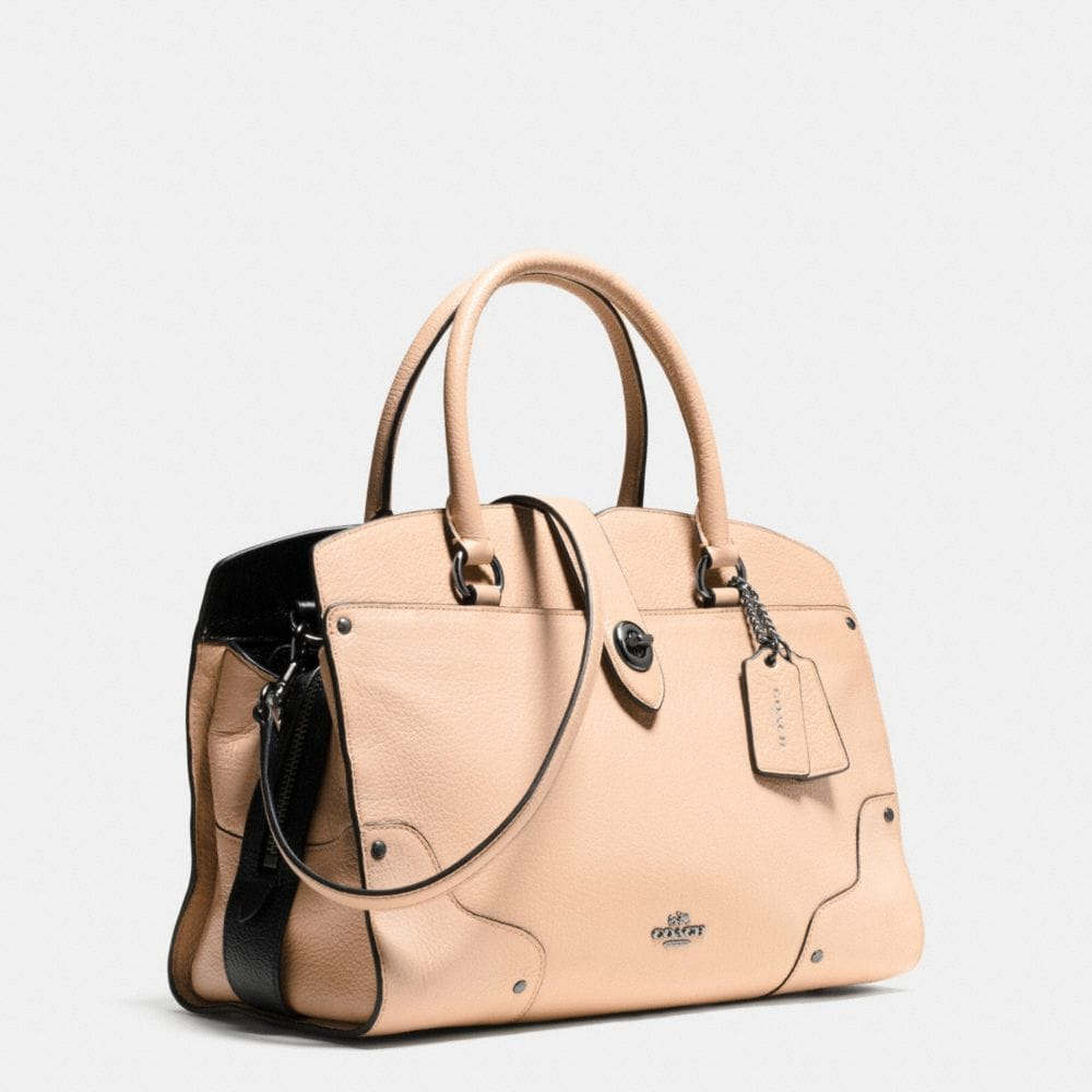 MERCER SATCHEL 30 IN COLORBLOCK LEATHER - Alternate View A2
