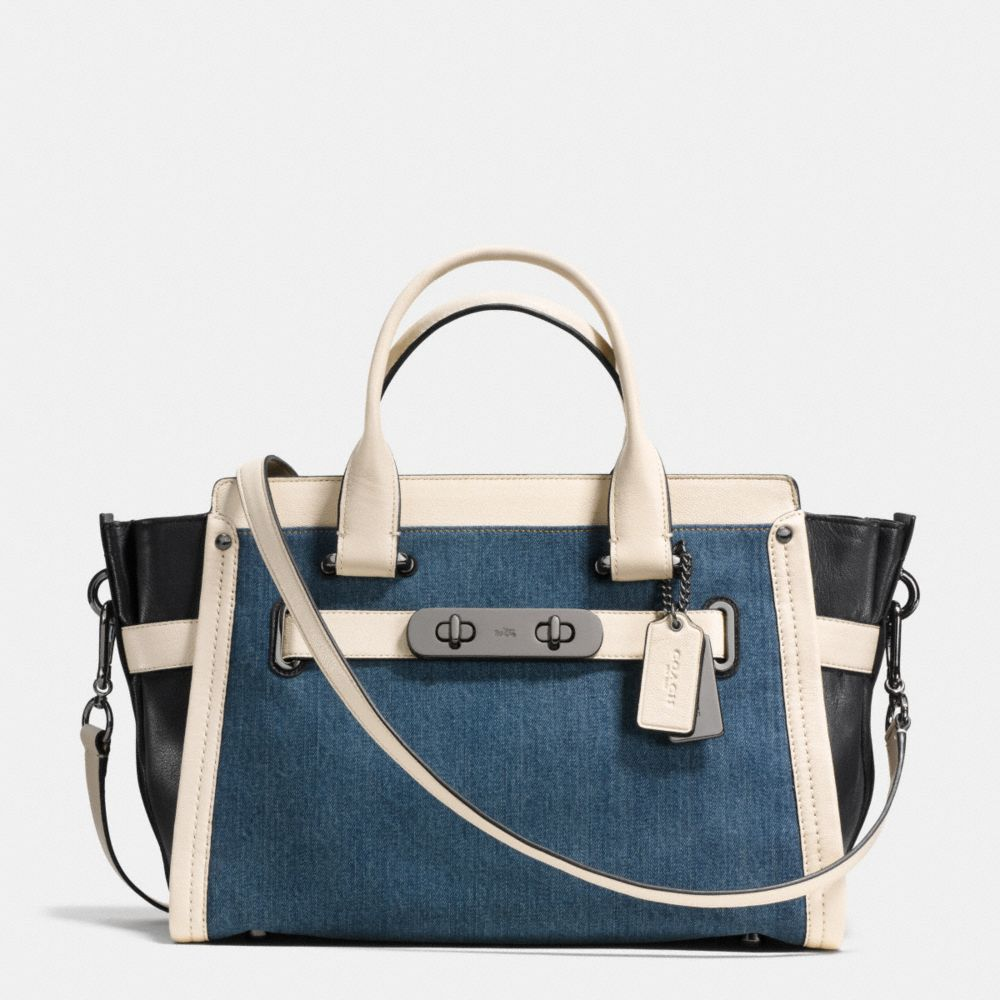 COACH SOFT SWAGGER IN COLORBLOCK DENIM