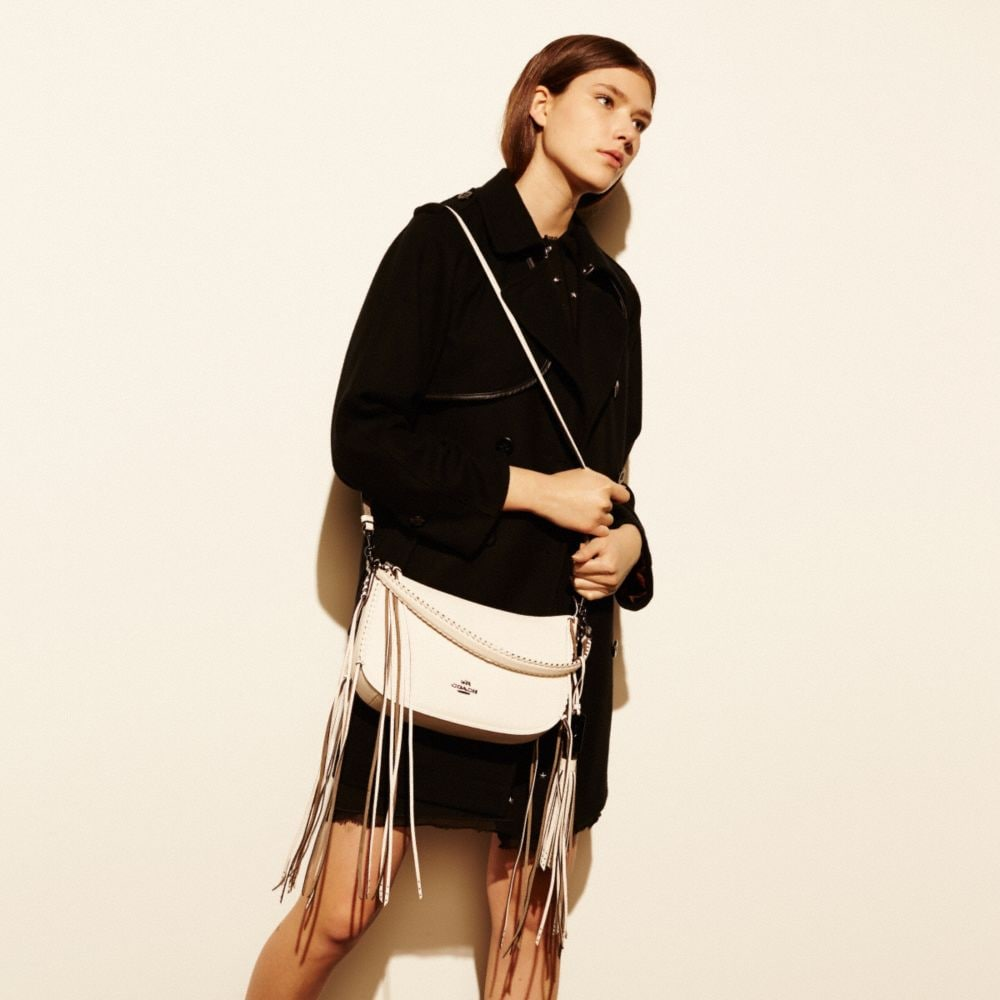 Fringe Chelsea Crossbody in Pebble Leather - Alternate View A2