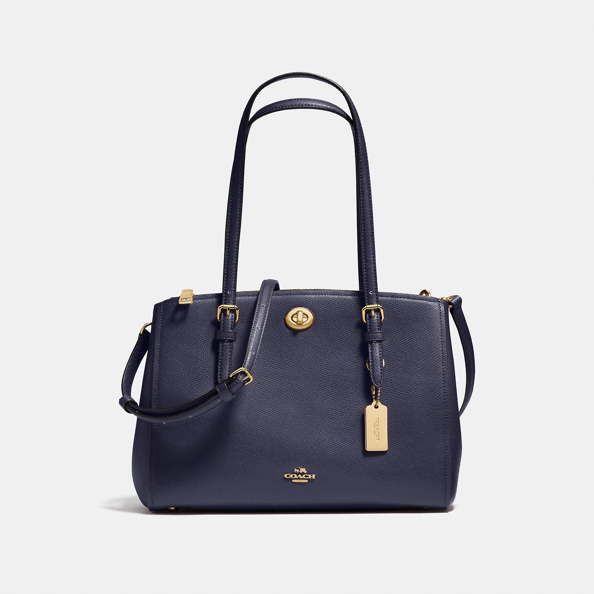 Coach Turnlock Carryall 29 In Crossgrain Leather