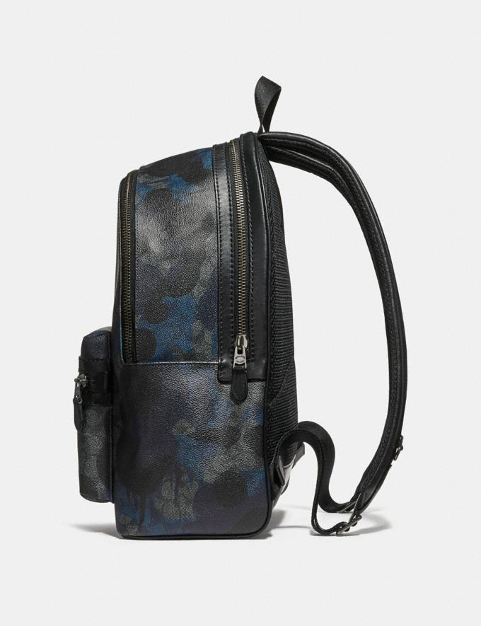 Coach Academy Backpack in Signature Wild Beast Print Charcoal/Black Antique Nickel New Featured Signature Styles Alternate View 1