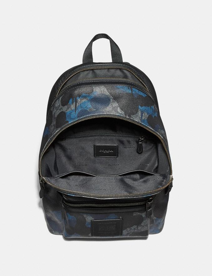 Coach Academy Backpack in Signature Wild Beast Print Charcoal/Black Antique Nickel Men Bags Backpacks Alternate View 2