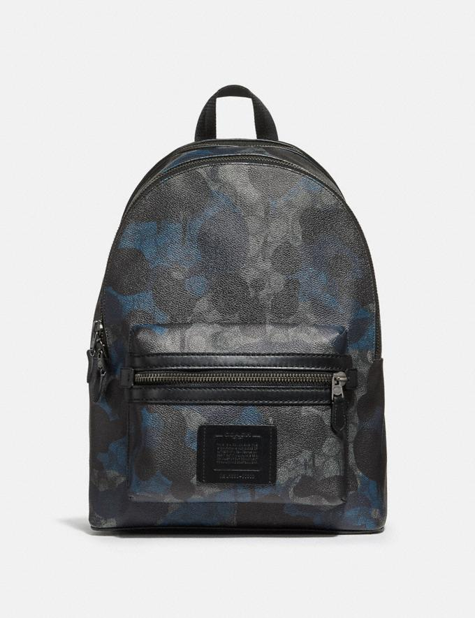Coach Academy Backpack in Signature Wild Beast Print Charcoal/Black Antique Nickel Men Bags Backpacks