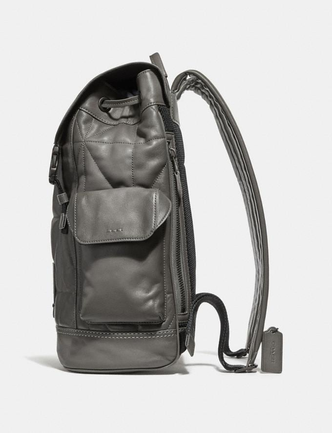 Coach Rivington Backpack With Quilting Heather Grey/Black Copper Finish Men Bags Backpacks Alternate View 1