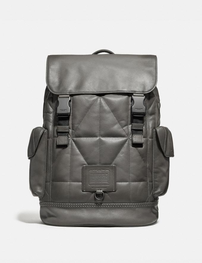 Coach Rivington Backpack With Quilting Heather Grey/Black Copper Finish Men Bags Backpacks