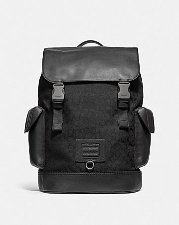 f4dec53552 RIVINGTON BACKPACK IN SIGNATURE JACQUARD ...