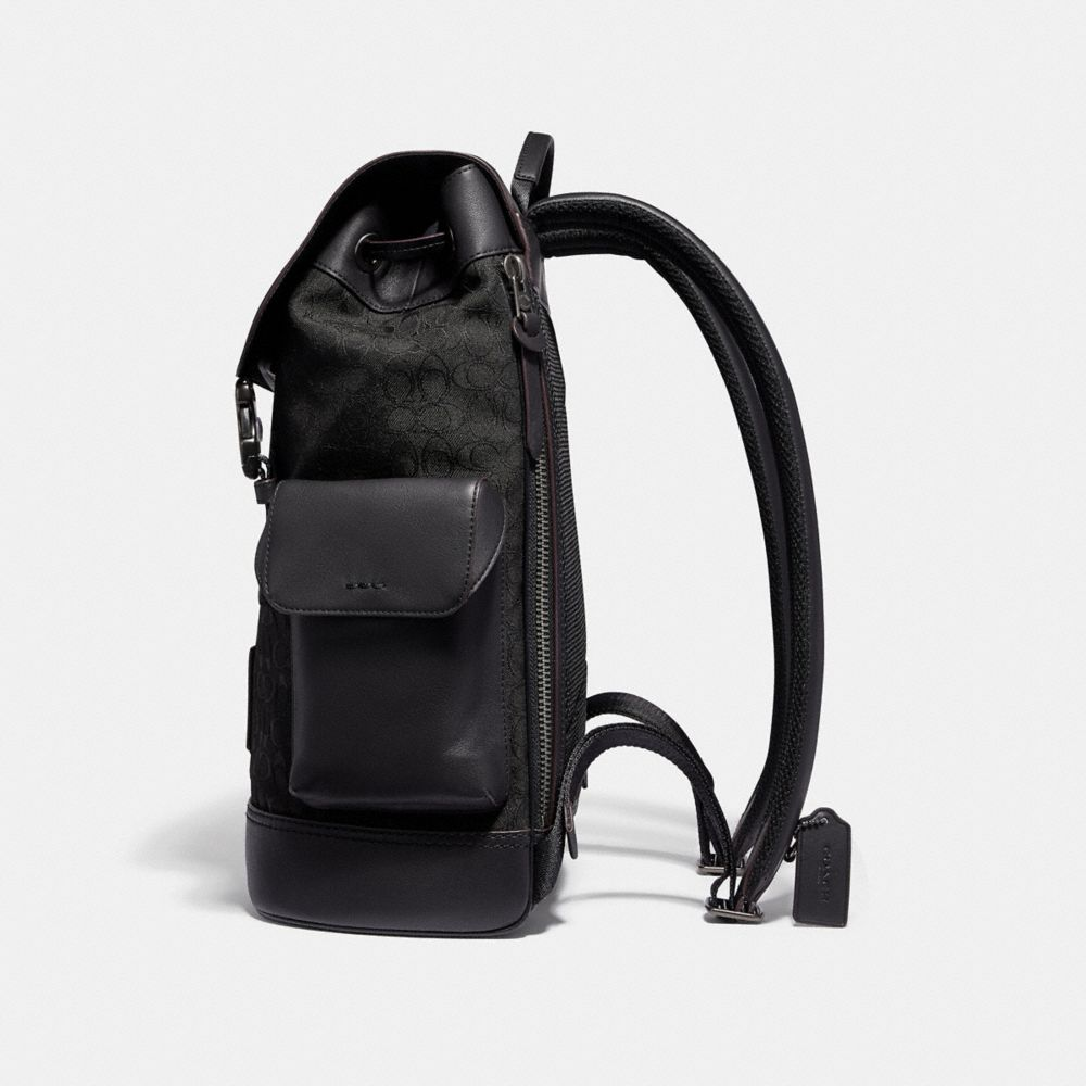 Coach Rivington Backpack in Signature Jacquard Alternate View 1