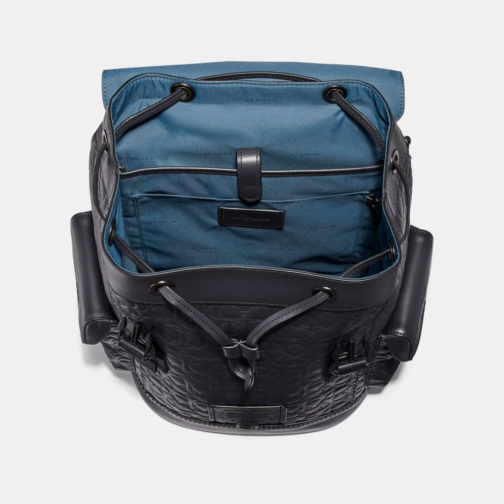 Coach Rivington Backpack in Signature Leather Alternate View 2